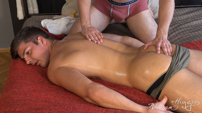 Fit lad Martin Gajda gets his cum wanked out of his uncut cock 3