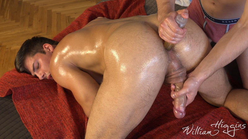 Fit lad Martin Gajda gets his cum wanked out of his uncut cock 8