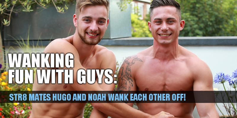Straight best buddies Hugo and Noah wank each other off and frott their cocks together in a new video