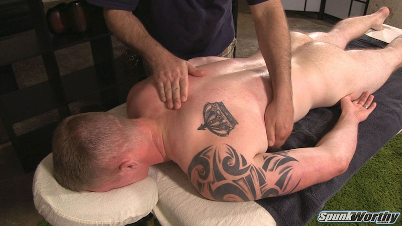 horny straight guy gets a massage