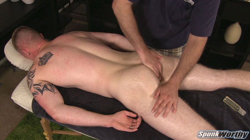 straight guy ass massaged