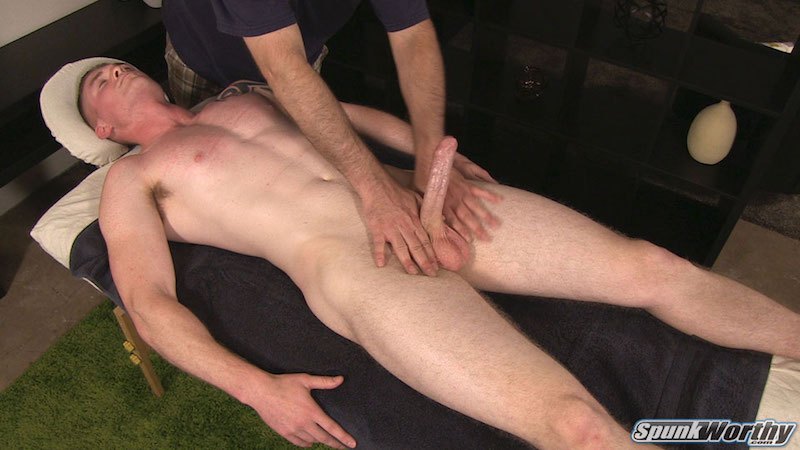 Hard straight guys uncut cock wanked