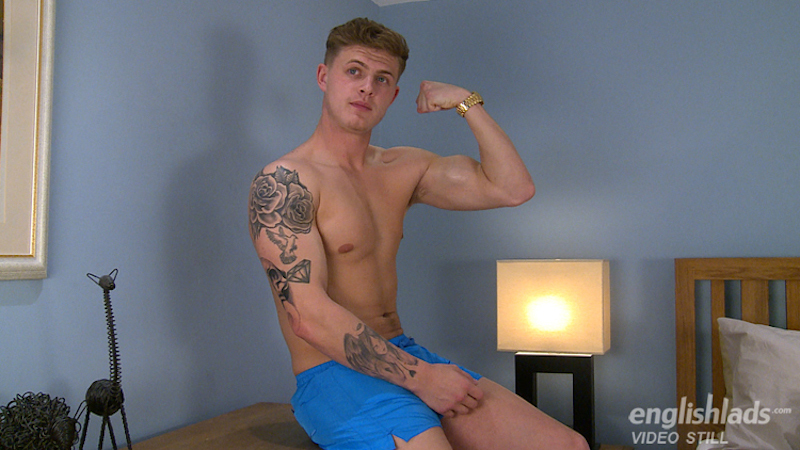 Straight guy Jack waits and poses, showing the members his body before getting his big dick out