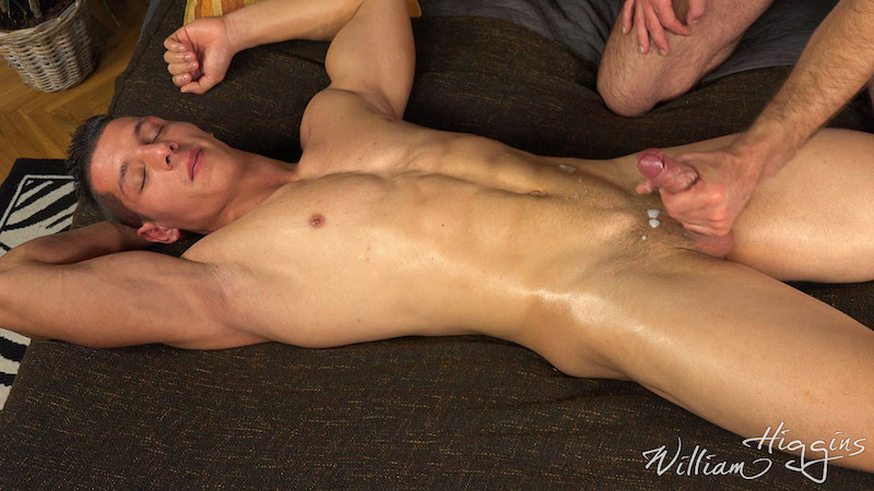 Straight jock made to cum by another man