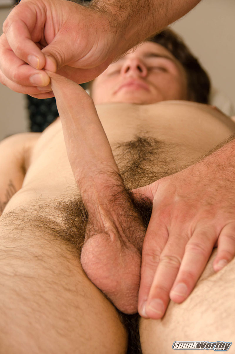 Foreskin play hand job