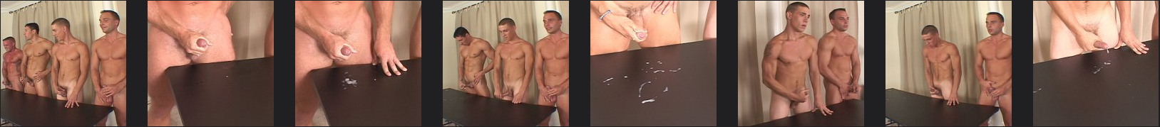 5 jocks jerking off and shooting cum together