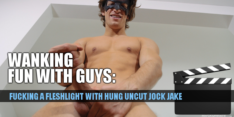 Hung jock fucking a fleshlight on video