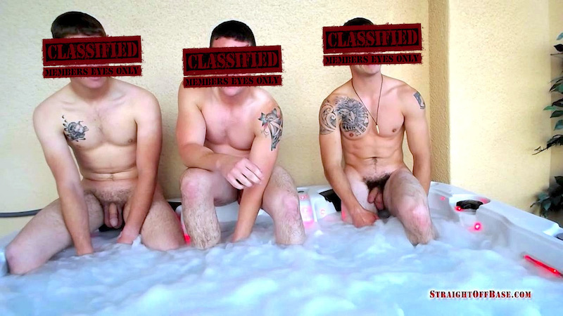 three straight guys