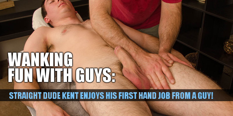Straight guy hand job first time