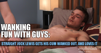 Straight guy hand job with Lewis Connell