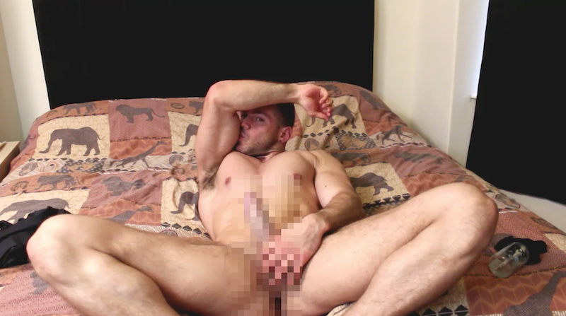 British muscle man Joshua Armstrong jerking off