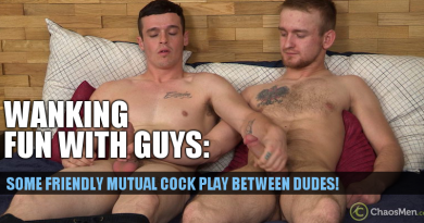 2 horny guys mutual cock play