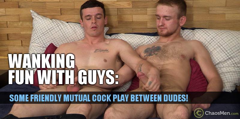 2 horny guys mutual cock play