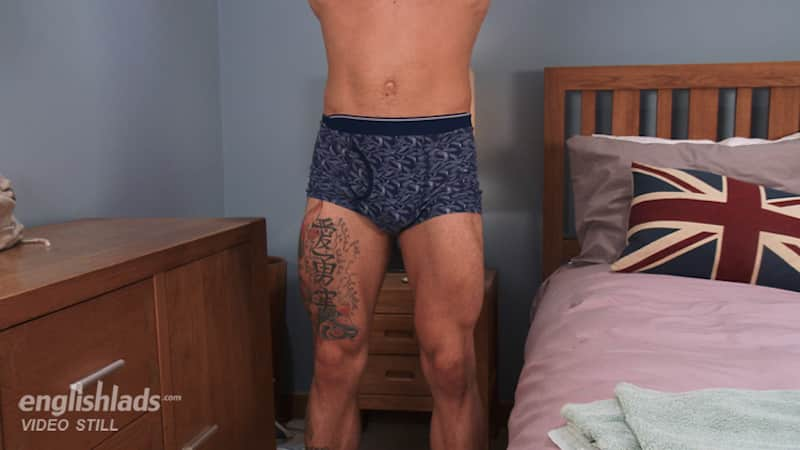 British jocks legs in his boxer shorts
