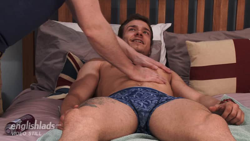 straight jock getting a massage in a hand job video