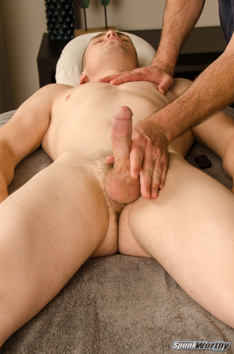 horny straight man jerked off by a guy