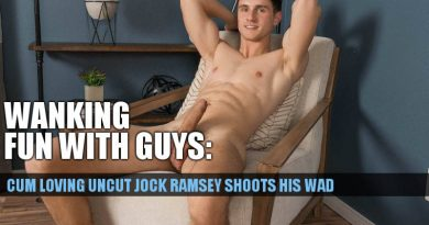 Cum loving uncut jock Ramsey jerking off at SeanCody