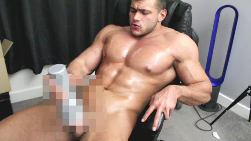 man pumping his cum into a fleshlight