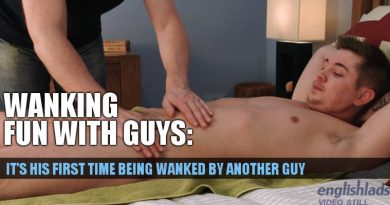 Straight boy hand job with Hunter Hay at Englishlads