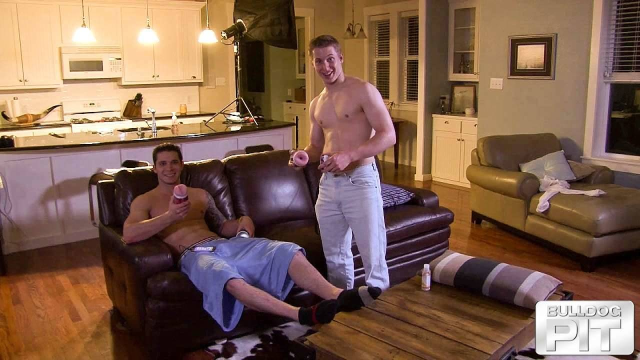 two straight jocks with sex toys