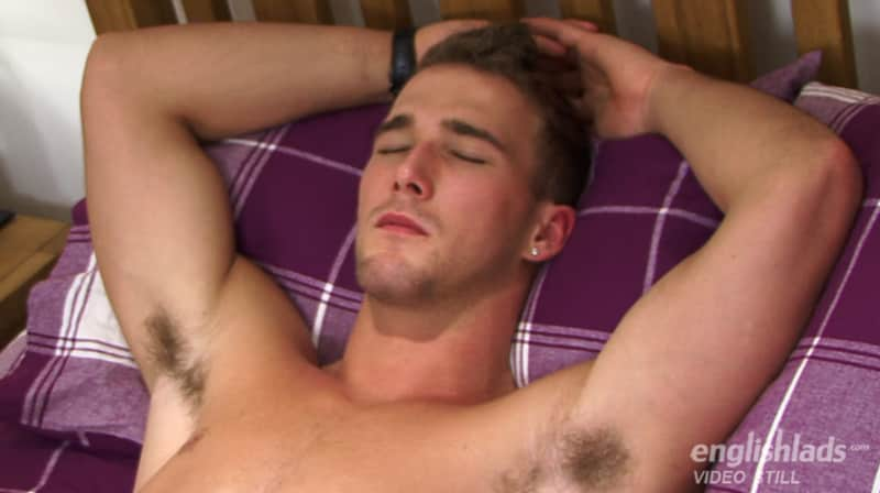 Handsome straight guy Rich Wills laying back and being wanked off