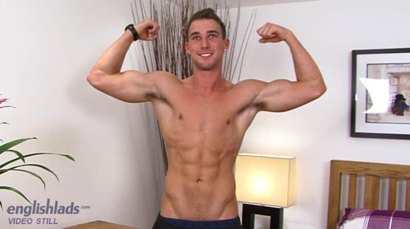 straight British jock shirtless and showing his body