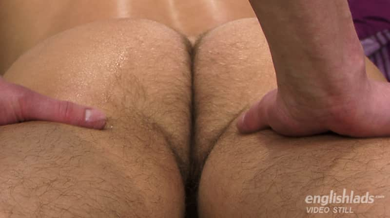 hairy guy ass in a massage video