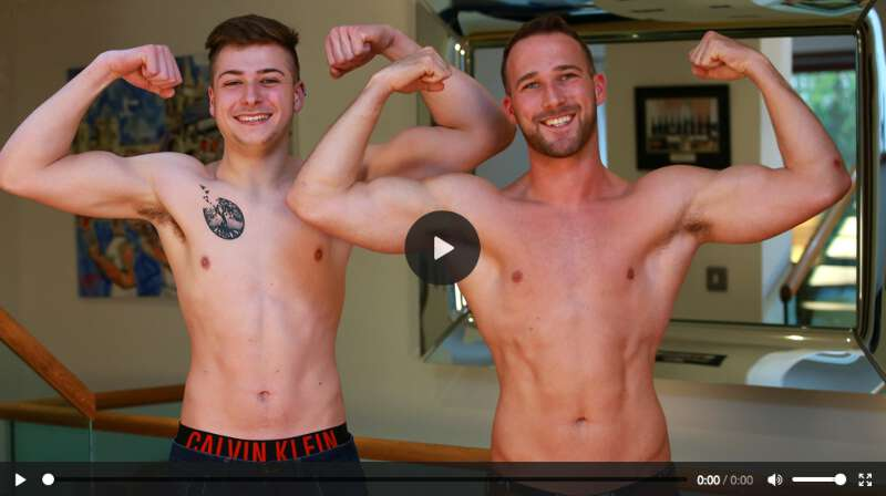 Jack Harper rubbing cocks with hung straight guy Rich Wills