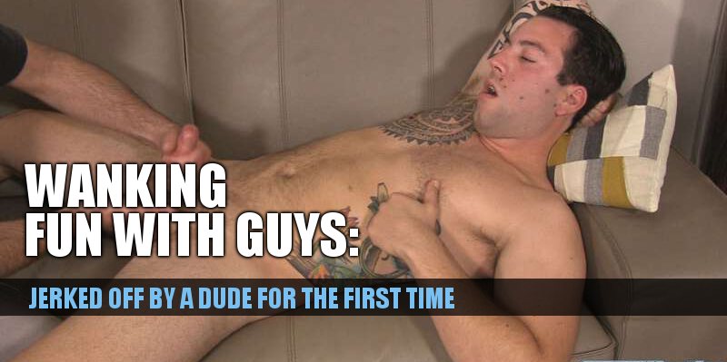 straight guy hand job