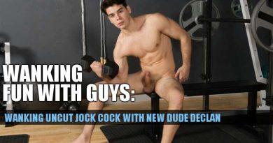 wanking uncut footballer cock with new straight jock declan