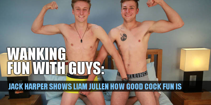 2 uncut straight boys wanking each other
