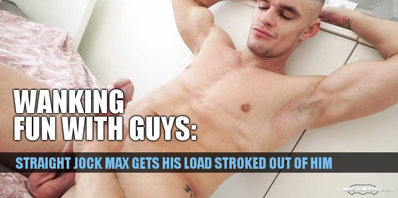 hung straight jock Max hand job maskurbate