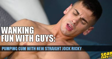 straight jock jerking off on video for sean cody