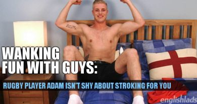 rugby player jerk off with Adam Wallis