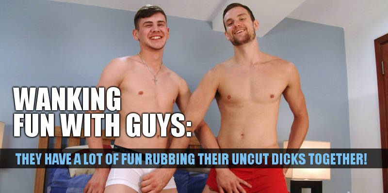2 straight guys rubbing cocks