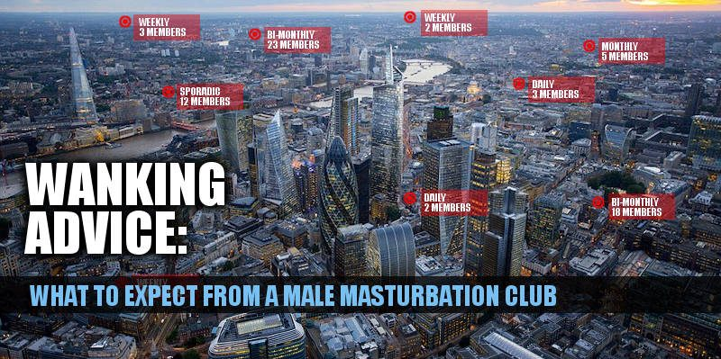 london skyline with masturbation clubs marked