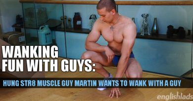 Str8 muscle lad Martin Ivanov is back to get a load from his uncut dick