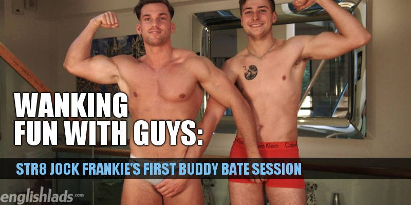 two straight guys jerking each other first time