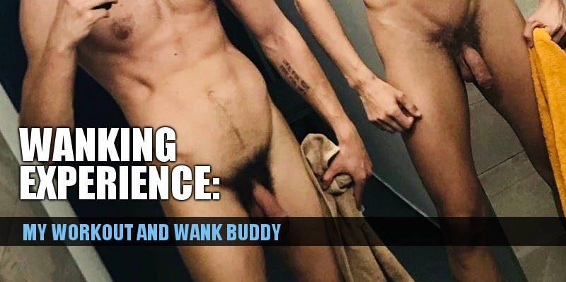 wanking gym buddies