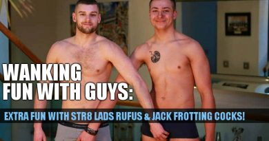 Extra fun with straight boys Fufus Fitzroy and Jack Harper frotting and cumming