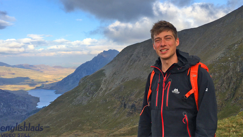 straight guy Henry Kane on a welsh mountain