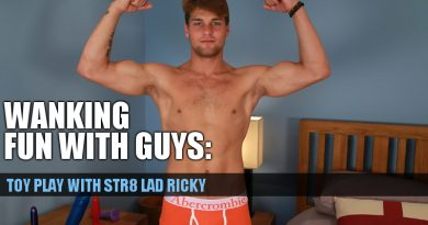 Str8 lad Ricky Hampton enjoys his first time with toys – bonus video!