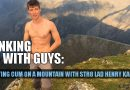 Mountaintop wanking with straight climber Henry Kane