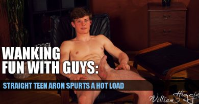 Wanking with curious straight lad Aron Hozder